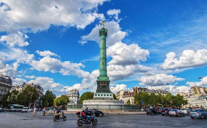میدان بستی از زیباترین جاذبه های گردشگری پاریس