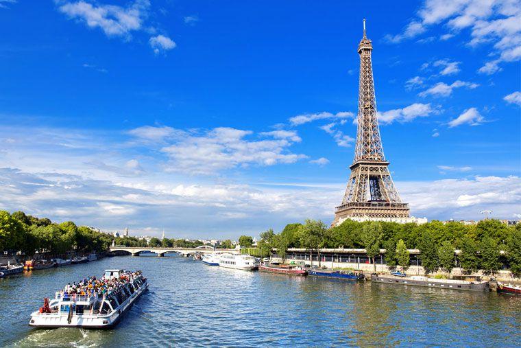 رود سن از جاذبه های گردشگری شهر پاریس