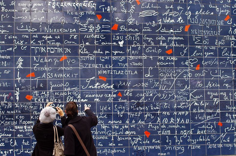دیوار عشق از جاهای دیدنی paris