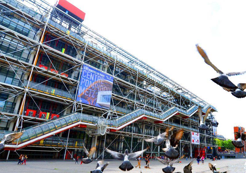 مرکز فرهنگی و هنری پمپیدو از بهترین جاهای دیدنی پاریس