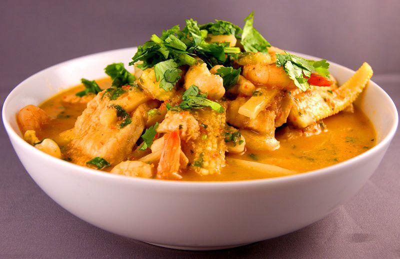 کاری میگو از غذاهای تایلند پوکت