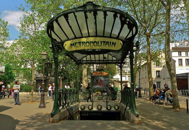 نمای بیرونی ایستگاه مترو در پاریس - بهترین زمان مسافرت به پاریس