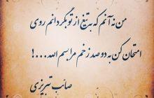 من نه آنم که به تیغ - صائب تبریزی