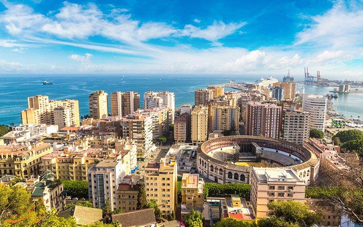 جاهای دیدنی مالاگا ، ششمین شهر پر جمعیت اسپانیا با جاذبه های فراوان