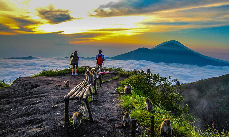 کوه باتور از مکانهای دیدنی بالی