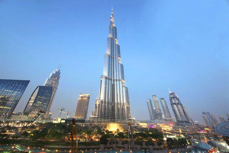 نمایی از برج خلیفه - راهنمای مسافرت به دبی