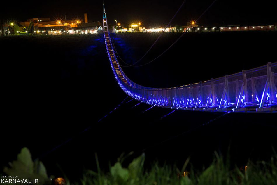 معرفی طولانی ترین پل معلق خاورمیانه در مشگین شهر