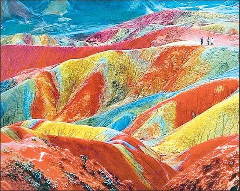 کوه های آلاداغ لار زنجان ، جلوه ویژه از رنگین کمان